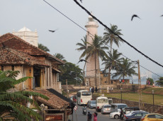 Galle Forte before sunset in Sri Lanka