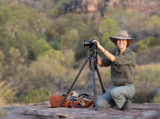 Shooting landscapes in NE Kakadu (Sarah Burgess from NT Bird Specialists)