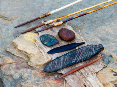 Traditional aboriginal tools. Credit Djabulugku Association Inc