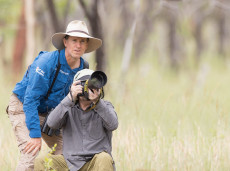 Guest photographer with bird guide Luke Paterson (Credit: A. Ashfield-Smith)